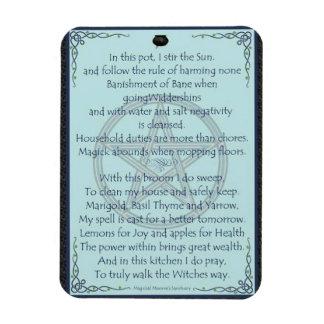 Magick : Kitchen Witch Rectangular Photo Magnet