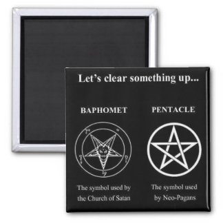 Magick - Let's Clear Something Up Square Magnet