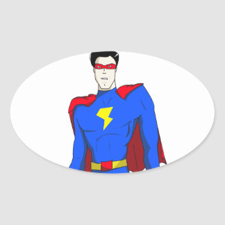 MagicMan by Al Oval Sticker