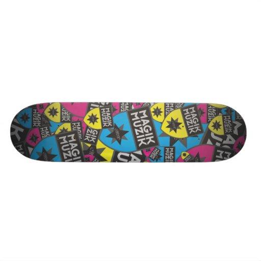 """Magik Muzik Skateboard """"All-Over"""""""
