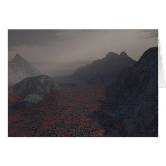 magma haze greeting card