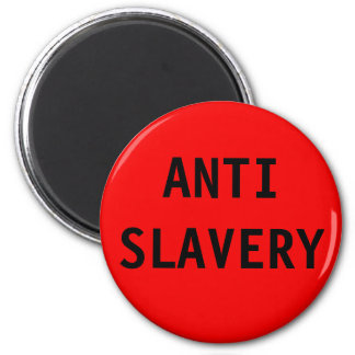 Magnet Anti Slavery Red