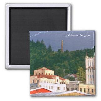 Magnet- Astoria Oregon Square Magnet