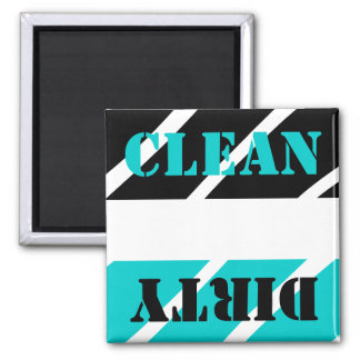 Magnet Black Turquoise Bl Clean Dirty Dish washer