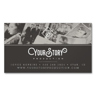 MAGNET BUSINESS CARD | Old Vintage Photos Gray