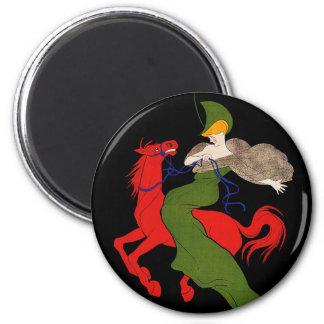Magnet:  Cappiello - Chocolat Klaus 6 Cm Round Magnet