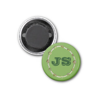 Magnet - Circle of Beads with Initials