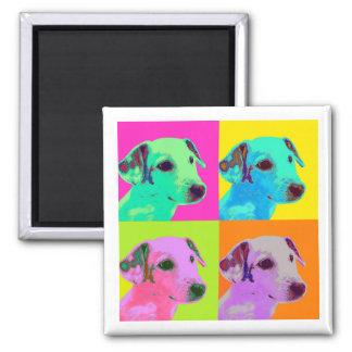 Magnet. Dog, Jack Russels Terrier. Warhol Popart Magnet
