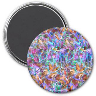 Magnet Floral Abstract Stained Glass