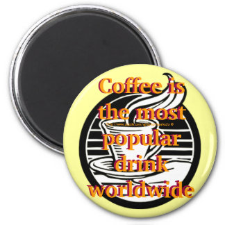 """Magnet for Coffee folks nutty about beans"" 6 Cm Round Magnet"