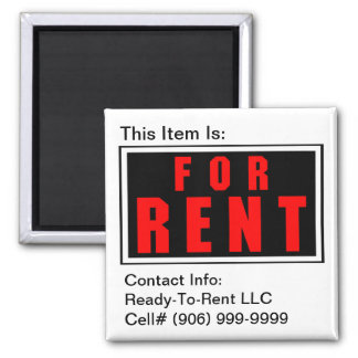 Magnet for equipment items available for Rent