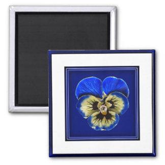 Magnet Framed Blue Pansy Refrigerator Magnet