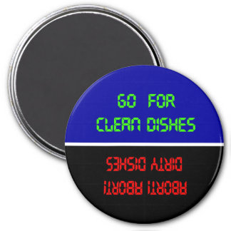 Magnet- Go For Clean Dishes 7.5 Cm Round Magnet