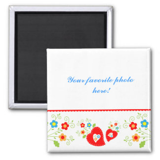 Magnet hearts and flower template