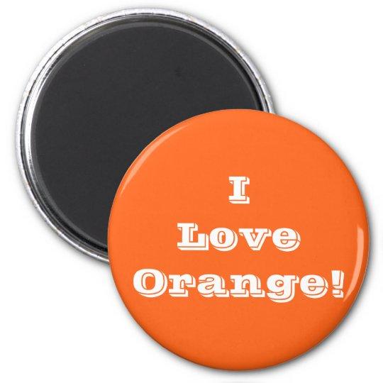 Magnet I Love Orange