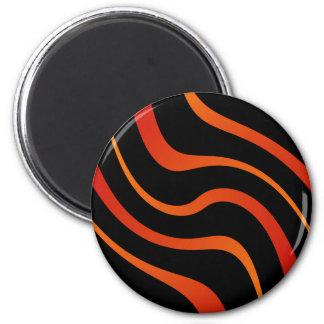 """Magnet - """"Kenya"""" - Red-orange and black"""