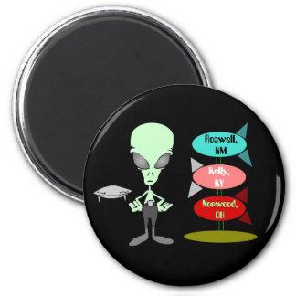 Magnet ~ Mid-Century UFO Sightings Hotspots Alien