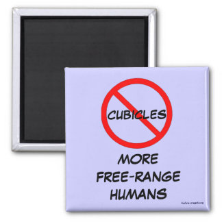 magnet - no cubicles = free-range humans