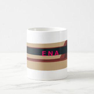 Magnet of sight-seeing bus basic white mug