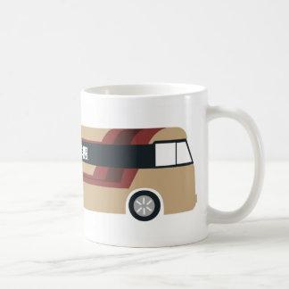 Magnet of sight-seeing bus mugs