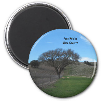 Magnet: Paso Robles, CA Wine Country 6 Cm Round Magnet