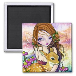 Magnet - Peace Valley Fawn Deer Fairy art