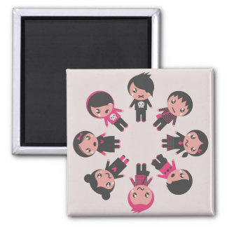Magnet, product design : Little Emos Square Magnet