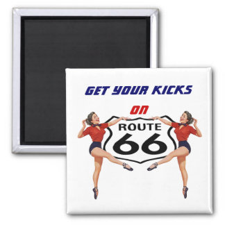"""Magnet ~ RETRO """"KICKS"""" GALS Get Yours on Route 66"""