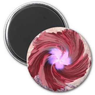 Magnet rotated bloom red