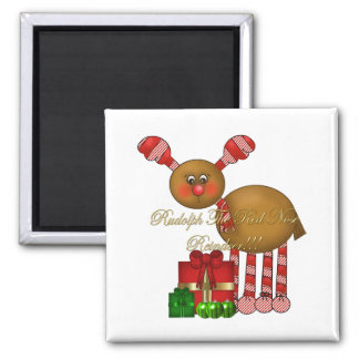 Magnet-Rudolph the Red Nose Reindeer Square Magnet