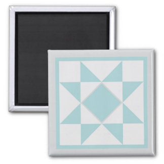 Magnet - Sawtooth Star Quilt Block (lt. blue/grey)