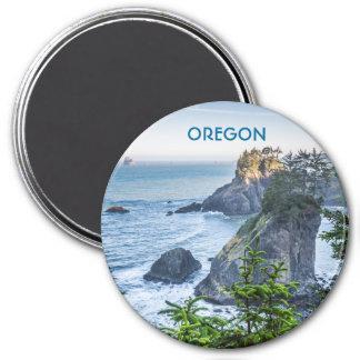 Magnet: Sea Stacks And Iris (Round) Magnet