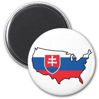 Magnet: Slovak in USA Magnet
