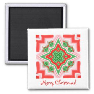 Magnet Square- Christmas Star