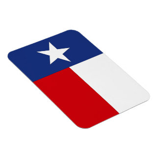 Magnet Texas Lone Star State Flag Red White Blue