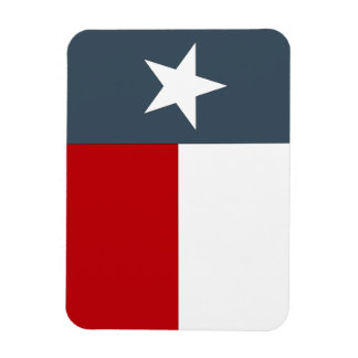 Magnet Texas Lone Star State Flag Red White Denim
