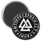 magnet Tri-Triangle Rune Shield on Blk