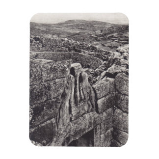 Magnet Unique Antique View LionsGate Mycenae Greek