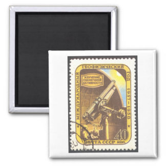 Magnet -USSR 1957 Astronomy Stamp Art