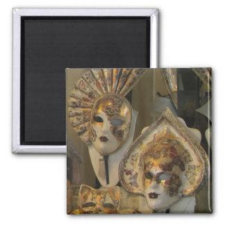 Magnet--Venetian Masks Square Magnet