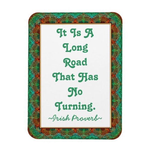Magnet Vintage Old Irish Proverb Faux-tatted frame