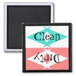 Magnet ~ Vintage Retro Turquoise Black White Pink