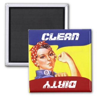 Magnet Vintage Rosie the Riveter Dish washer Flip
