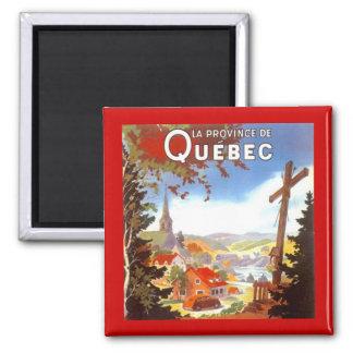 MAGNET ~ VINTAGE TRAVEL SOUVENIR QUEBEC CANADA