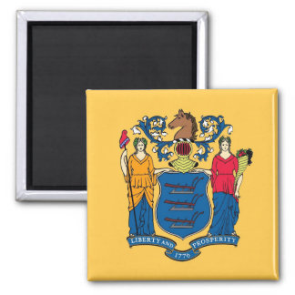 Magnet with Flag of New Jersey State - USA