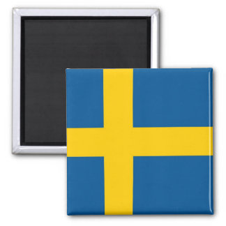 Magnet with Flag of Sweden