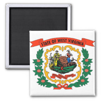 Magnet with Flag of West Virginia State - USA
