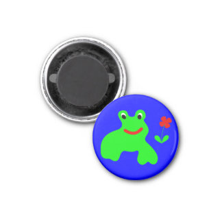 Magnet with frog