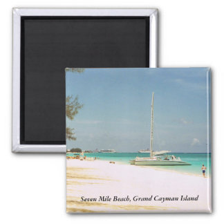 Magnet with Grand Cayman Photo