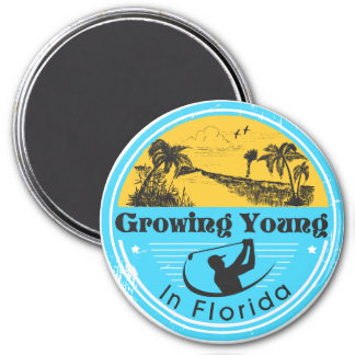 """Magnet with """"Growing Young in Florida"""" logo"""